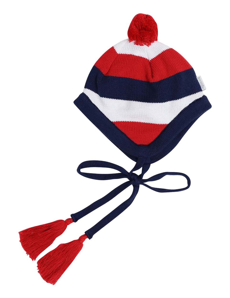 A1318R Dragon Stripe Lined Knit Beanie