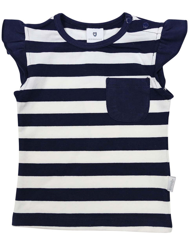 A1236N Striped Pocket Tee-Tops-Korango_Australia-Kids_Fashion-Children's_Wear