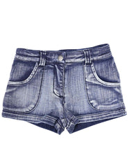 A1228L Denim Knit Short-Pants & Shorts-Korango_Australia-Kids_Fashion-Children's_Wear