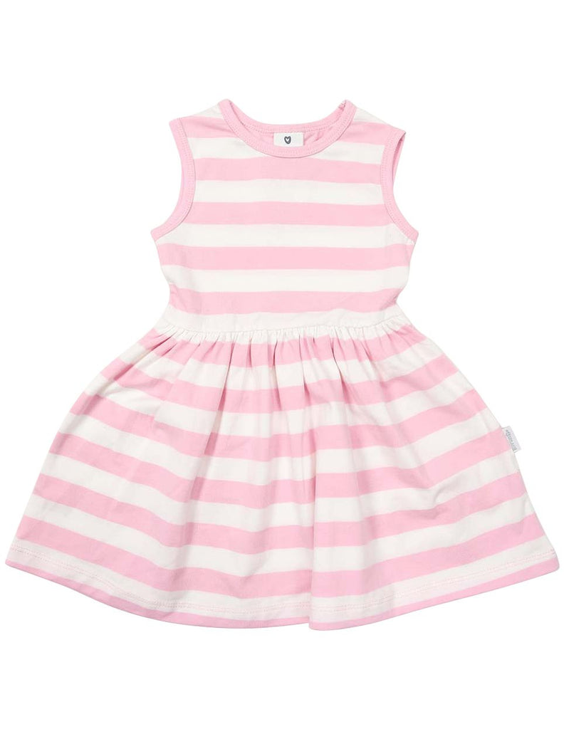 A1240P Striped Cotton Dress-Dress-Korango_Australia-Kids_Fashion-Children's_Wear