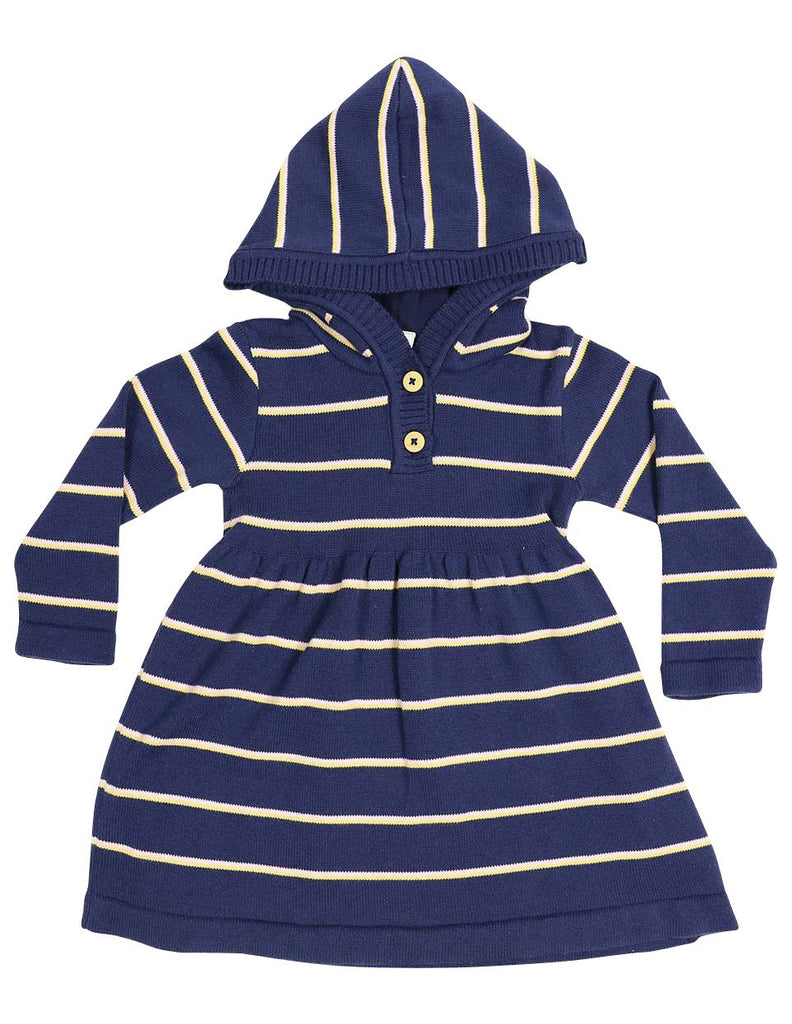A1335N Stars Stripe Hooded Knit Dress
