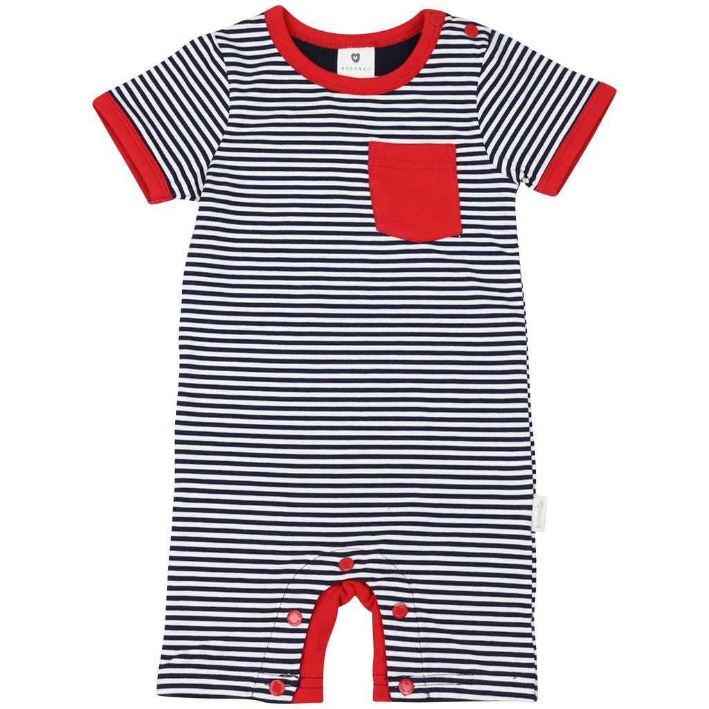 C1415N Nautical Stripes S/S Romper