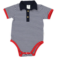 C1416N Nautical Stripes Bodysuit