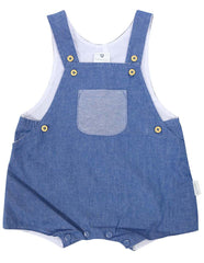 B1210D Chambray Sunsuit-All In Ones-Korango_Australia-Kids_Fashion-Children's_Wear