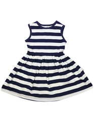 A1240N Striped Cotton Dress-Dress-Korango_Australia-Kids_Fashion-Children's_Wear