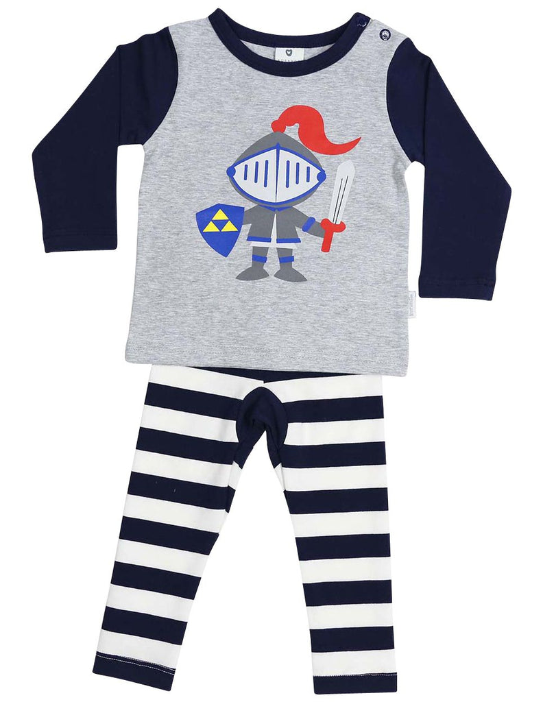 A1362G Sleepwear Cotton Pyjamas Long Sleeve Tee and Pant Unicorn