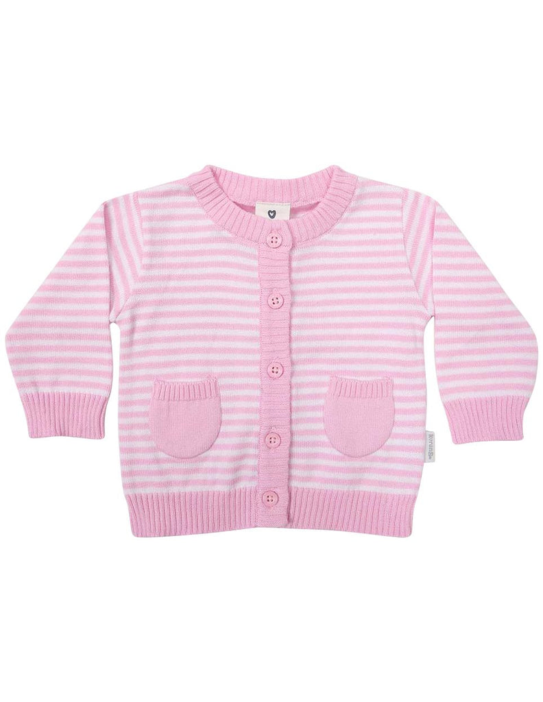 B1219P Striped Cardigan-Cardigans/Jackets/Sweaters-Korango_Australia-Kids_Fashion-Children's_Wear