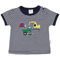 A1404N Excavators Striped Tee