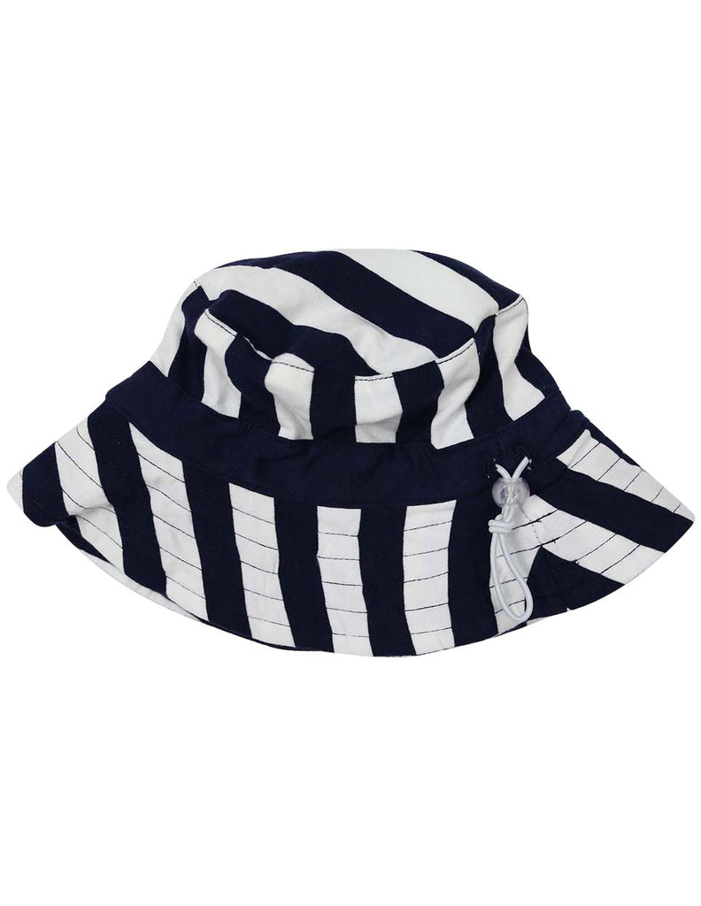 A1241N Striped Cotton Sun Hat-Accessories-Korango_Australia-Kids_Fashion-Children's_Wear