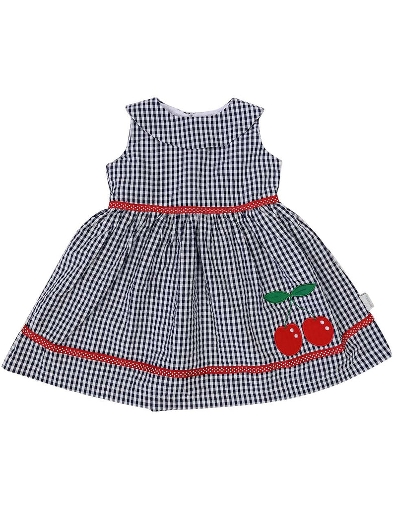 A1213N Seersucker Cherry Dress-Dress-Korango_Australia-Kids_Fashion-Children's_Wear