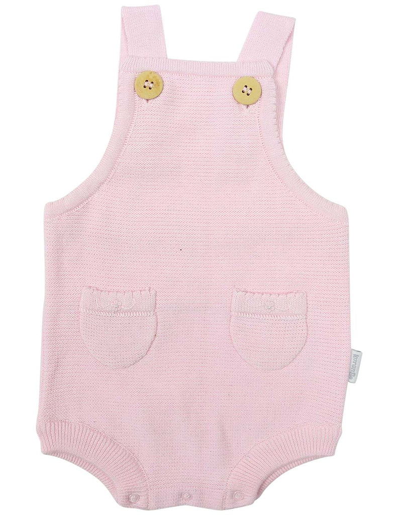 C1205P Rosette Knit Sunsuit-All In Ones-Korango_Australia-Kids_Fashion-Children's_Wear