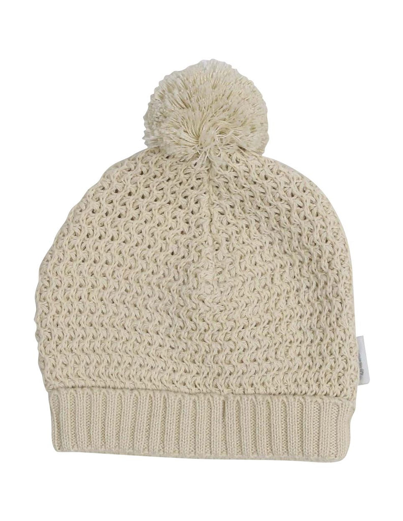 A1324B Clouds Knit Beanie with Pom Pom