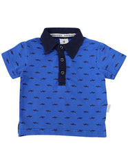 A1221B Shark Polo-Tops-Korango_Australia-Kids_Fashion-Children's_Wear