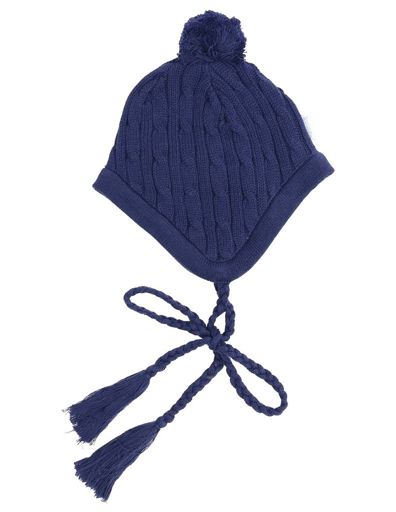 A1338N Stars Lined Cable Knit Beanie
