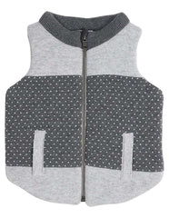 A1302G Tiger Padded Knit Vest