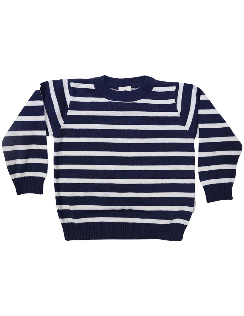 C1228N Nautical Sweater-Cardigans/Jackets/Sweaters-Korango_Australia-Kids_Fashion-Children's_Wear