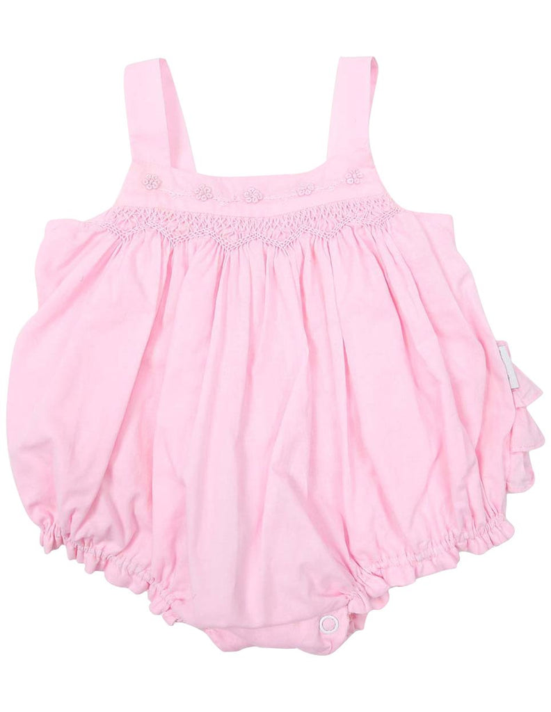 C1204P Rosette Sunsuit-All In Ones-Korango_Australia-Kids_Fashion-Children's_Wear