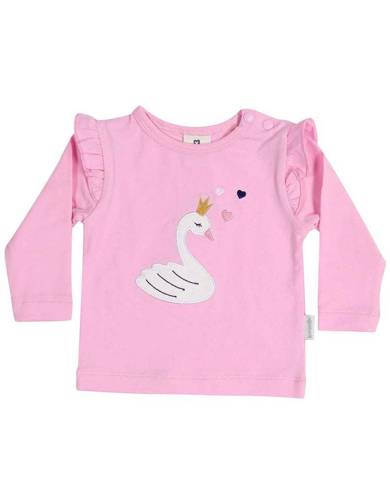 B13011P Swan Princess Applique Top