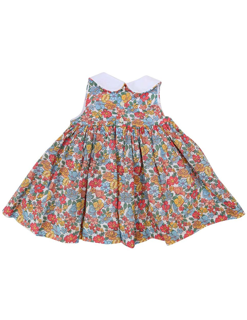 C1234P Floral Collared Dress-Dress-Korango_Australia-Kids_Fashion-Children's_Wear