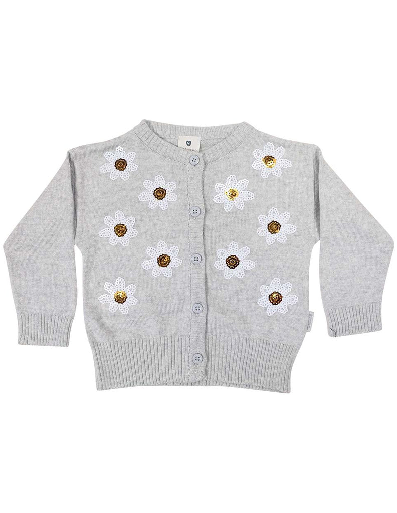 A1246G Daisy Sequence Cardigan