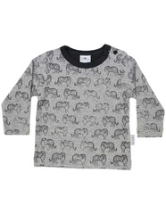 A1303G Tiger Long Sleeve Tiger Print Tee
