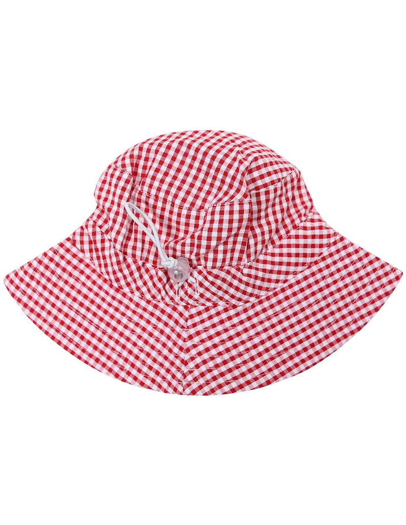 A1219R Seersucker Sunhat-Accessories-Korango_Australia-Kids_Fashion-Children's_Wear