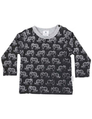 A1303C Tiger Long Sleeve Tiger Print Tee