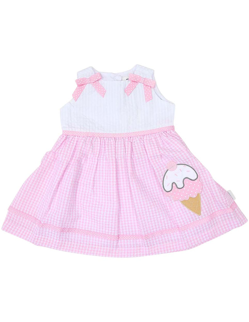 A1212P Seersucker Ice Cream Dress-Dress-Korango_Australia-Kids_Fashion-Children's_Wear