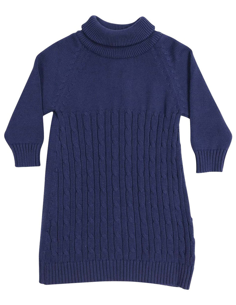 A1337N Stars Turtle Neck Cable Knit Dress