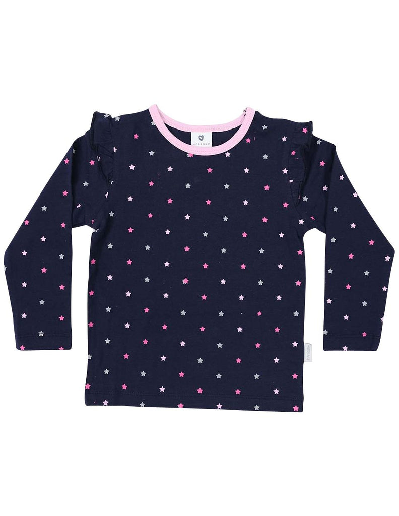A1333N Stars Long Sleeve Star Print Tee