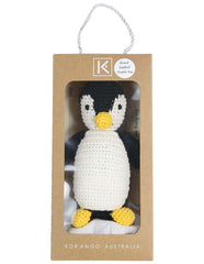 B13030B  Essentials Penguin Hand Crocheted Toy