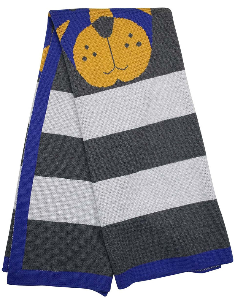 B13008B  Little Tiger Little Tiger Knit Blanket (100cm X 80cm)