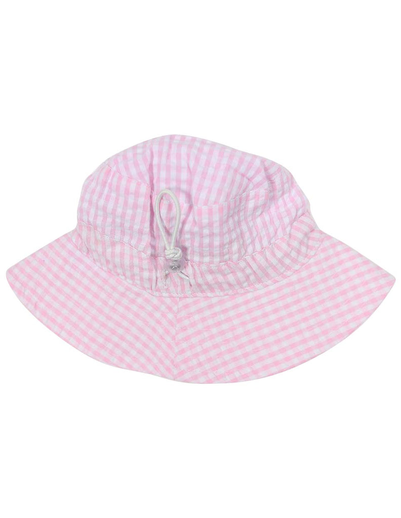 A1219P Seersucker Sunhat-Accessories-Korango_Australia-Kids_Fashion-Children's_Wear