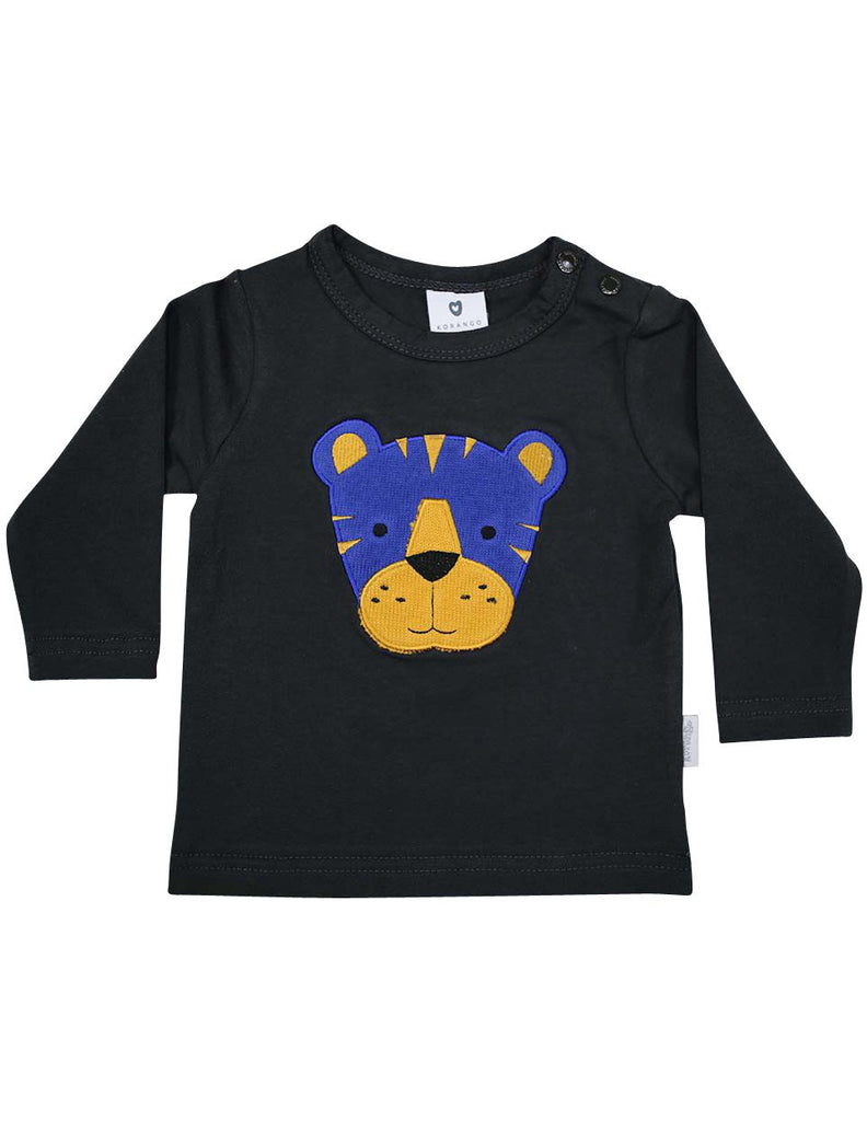 B13003C  Little Tiger Applique Top