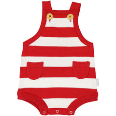 B1425R Chirpy Bird Knit Sunsuit