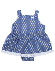 B1221D Chambray Sunsuit-All In Ones-Korango_Australia-Kids_Fashion-Children's_Wear