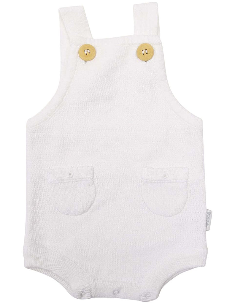 C1205W Rosette Knit Sunsuit-All In Ones-Korango_Australia-Kids_Fashion-Children's_Wear