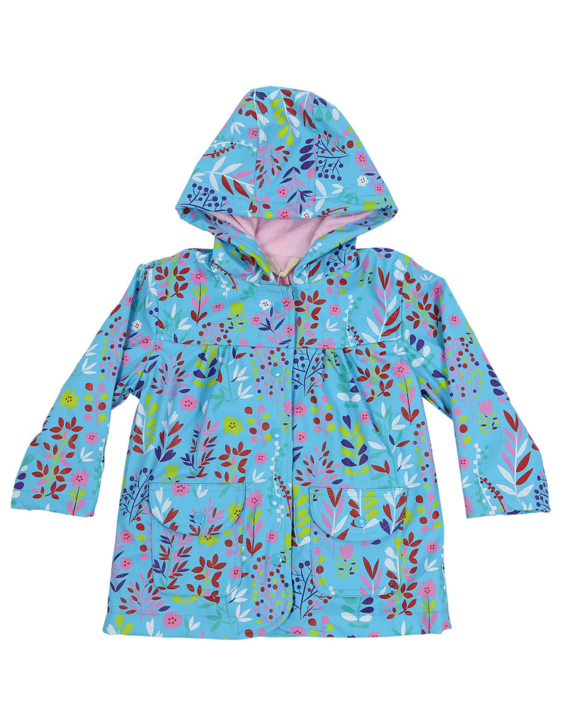 A1138S Chirpy Bird Floral Raincoat-Rain Wear-Korango_Australia-Kids_Fashion-Children's_Wear