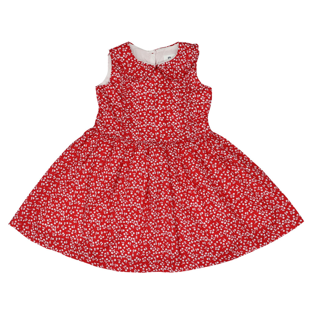 A1427R Cherries Cherry Print Dress
