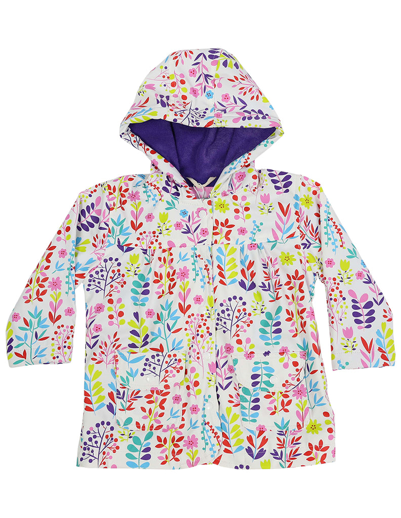 A1138W Chirpy Bird Floral Raincoat-Rain Wear-Korango_Australia-Kids_Fashion-Children's_Wear