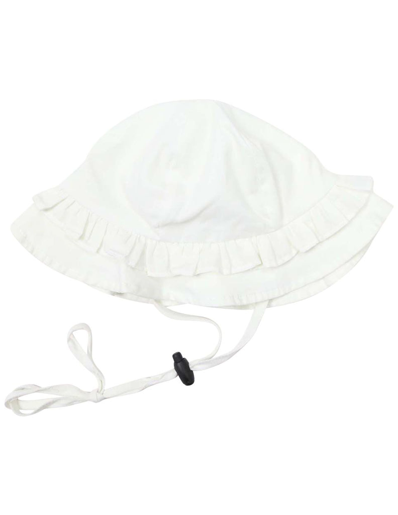 C1206W Rosette Sun Hat-Accessories-Korango_Australia-Kids_Fashion-Children's_Wear