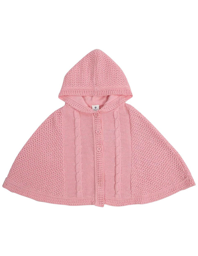 A1320P Clouds Cable Knit Poncho