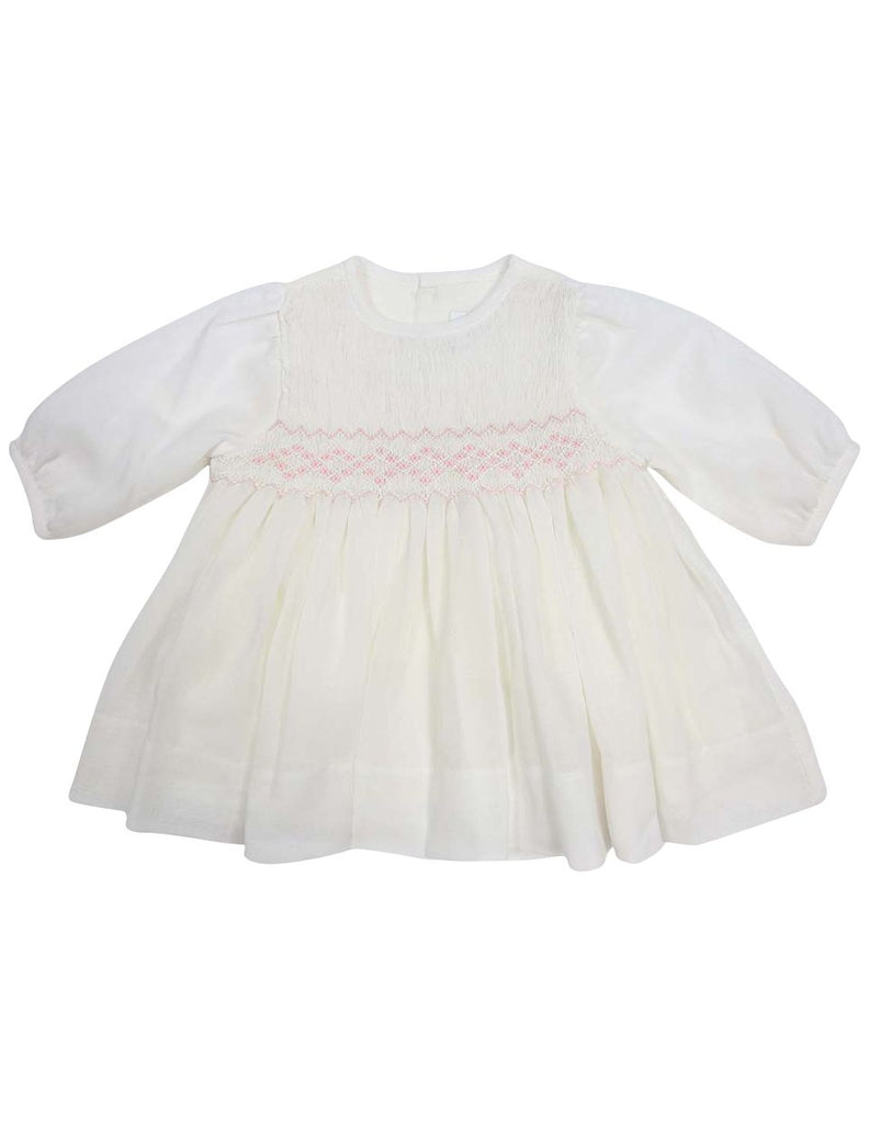 C13002I  Timeless Hand Smocked/Embroidered Cotton Voile Dress