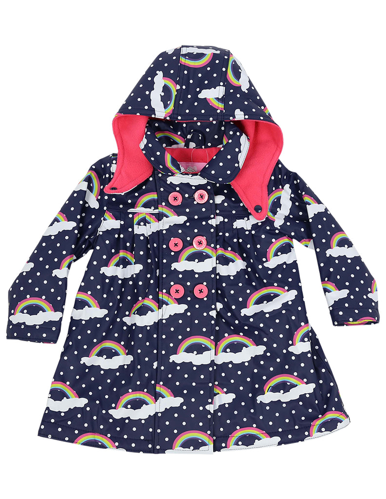 A1122N Winter Rainbow Raincoat-Rain Wear-Korango_Australia-Kids_Fashion-Children's_Wear