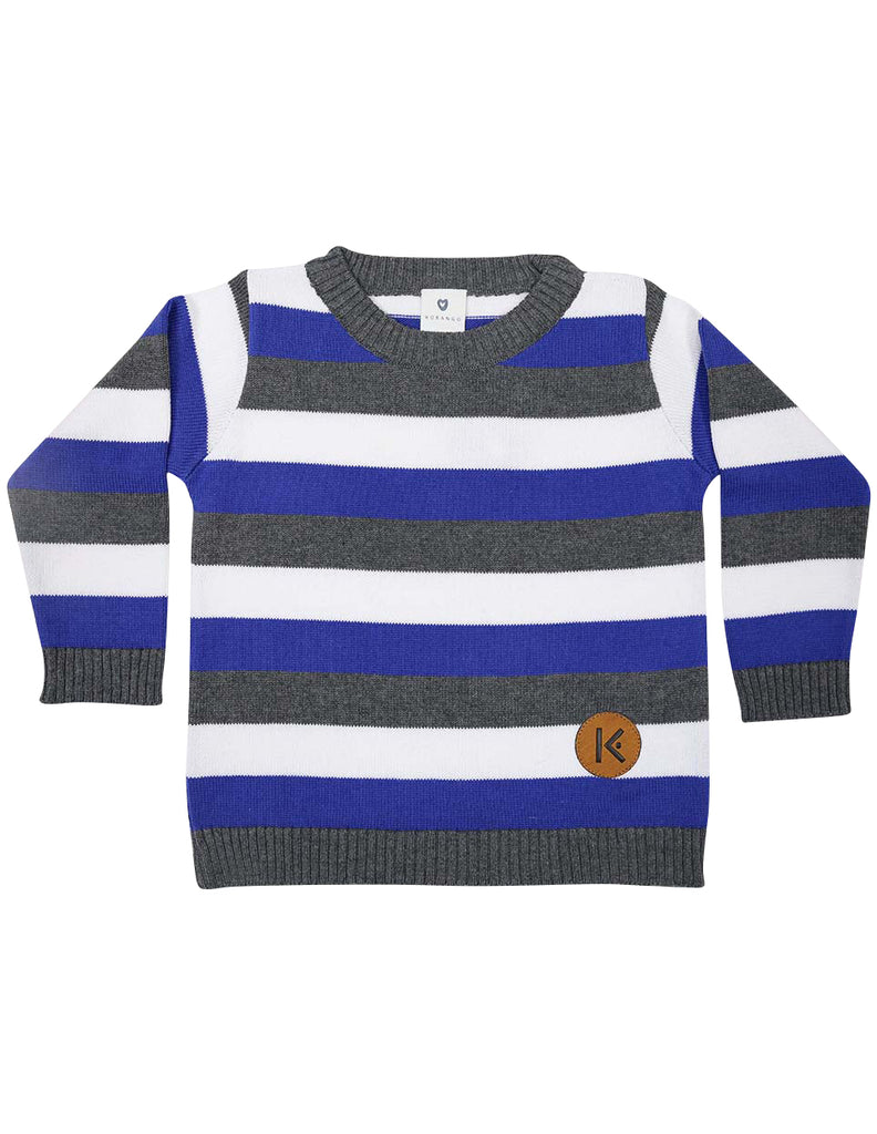 A1429B Fighter Jet Striped Sweater