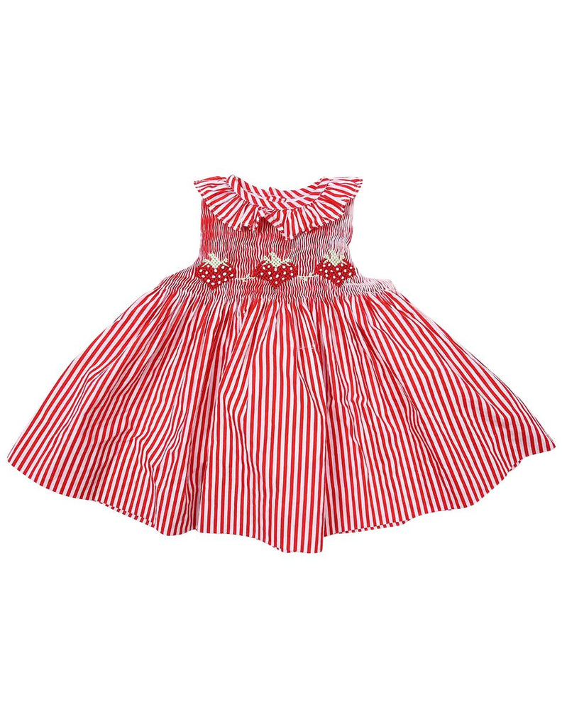C1224R Strawberry Frill Dress-Dress-Korango_Australia-Kids_Fashion-Children's_Wear