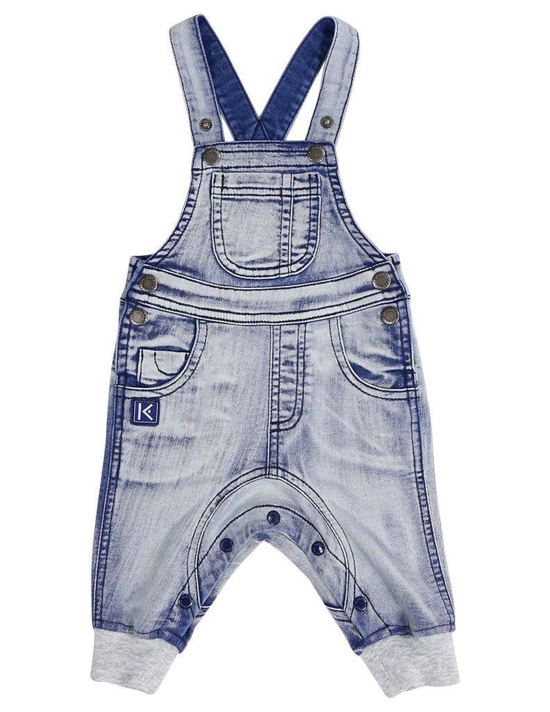 A1305L Tiger Denim Knit Overall