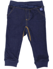 A1104D Over the Moon Denim Knit Leggings-Pants & Shorts-Korango_Australia-Kids_Fashion-Children's_Wear