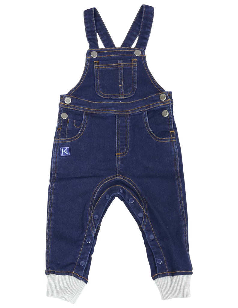 A1105D Over the Moon Denim Knit Overall-All in Ones-Korango_Australia-Kids_Fashion-Children's_Wear