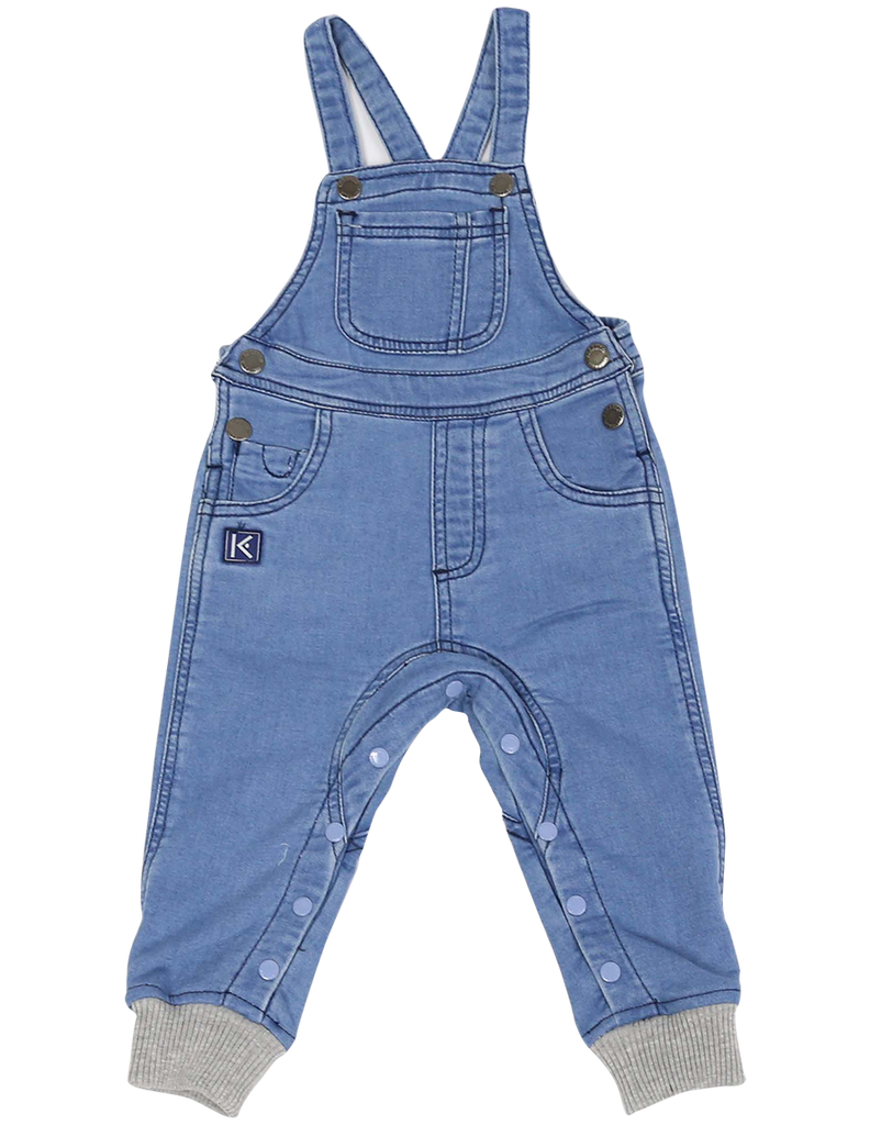 A1105L Over the Moon Denim Knit Overall-All in Ones-Korango_Australia-Kids_Fashion-Children's_Wear